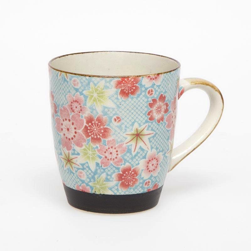 Australia Kanoko Yuzen Blue Tea Mug