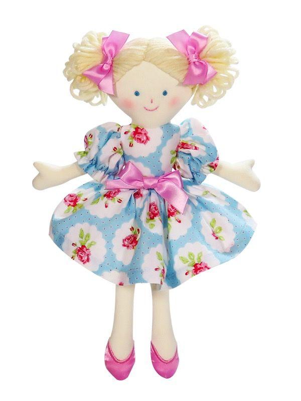Australia Lulu Blue 24cm Rag Doll