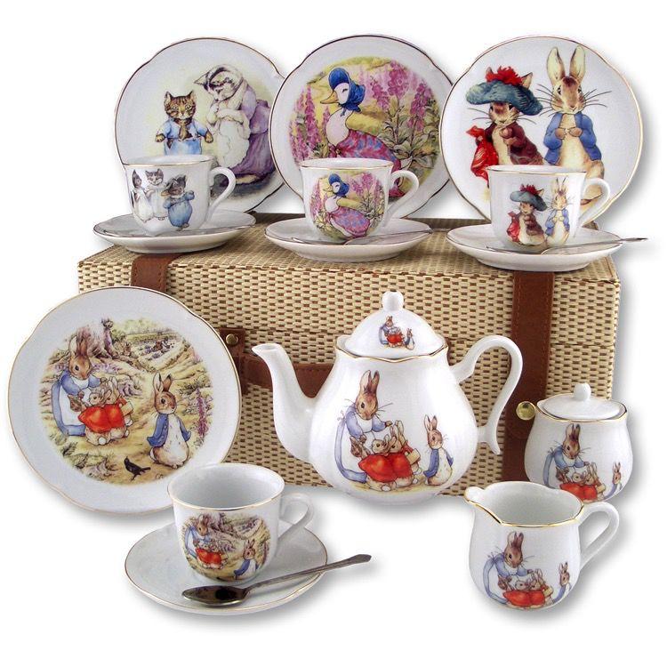 Europe Beatrix Potter PICNIC BASKET PETER RABBIT TEASET