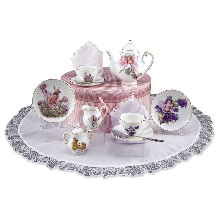 Europe Flower Fairy HAT BOX Teaset