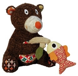 Australia Musical Fishing Bear Toy