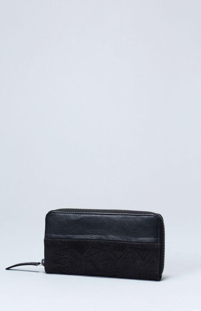 Australia Black Borduren Small Wallet