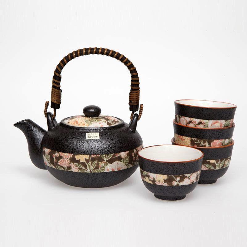 Australia Hana Yuzen Tea Set 4 Cups