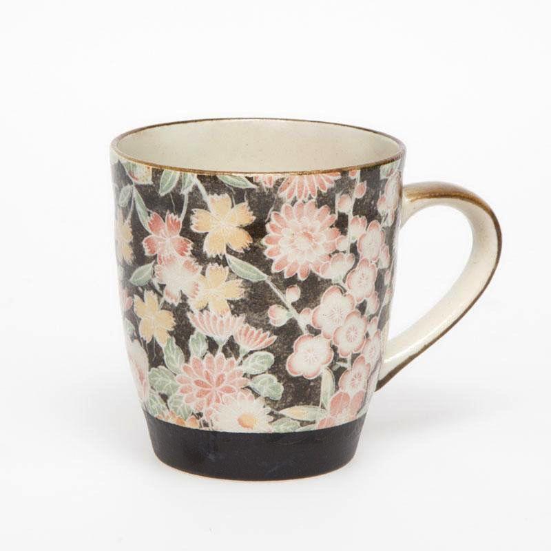 Australia Hana Yuzen Black Tea Mug