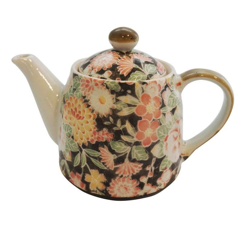 Australia Hana Yuzen Black Teapot
