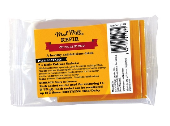 Australia Mad Millie Kefir Culture Sachets x 2 FREEZER