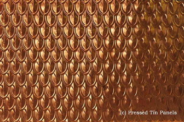 Australia Pressed Tin  Copper Fish Scale1800x900