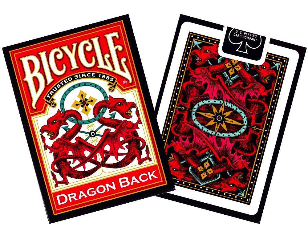 Australia BICYCLE POKER DRAGON RED/BLU