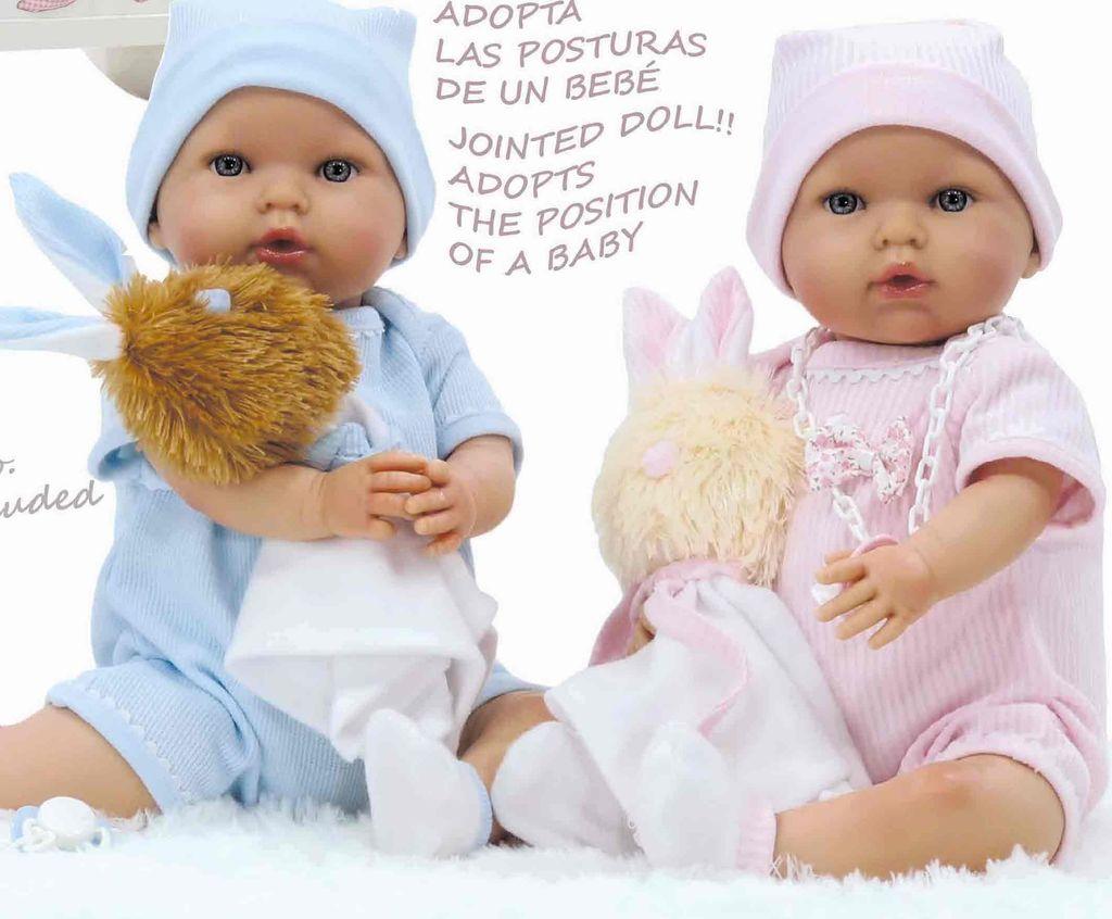 Europe Luca, vinyl baby doll w/rabbit