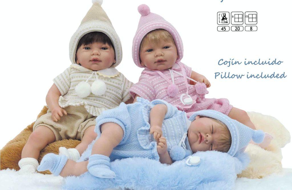 Europe Brown/pink/blue vinyl doll