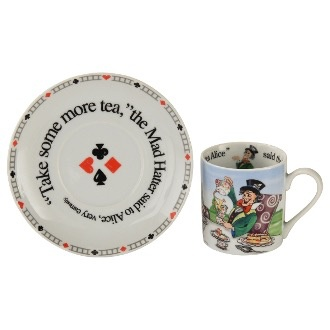 Australia ALICE 60Z CUP & SAUCER MAD HATTER