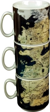 Australia Game of Thrones - Stacked Westerns Map Mug Set