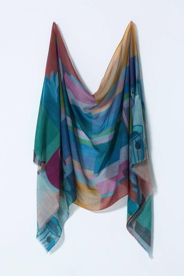 Australia Nancybird Window Sill Superfine Wool Scarf RRP$115