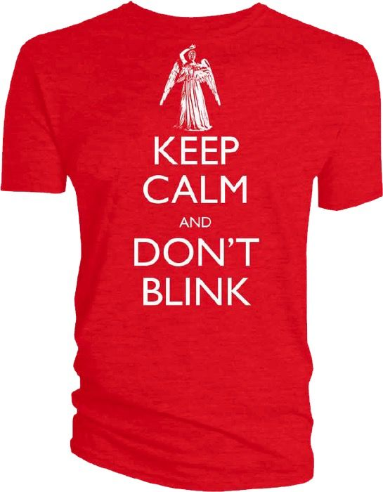 Australia Dr Who - Keep Calm and Don't Blink T-Shirt M