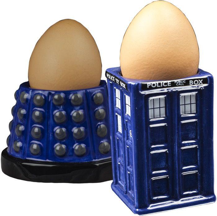 Australia Dr Who - TARDIS & Dalek Egg Cup Set