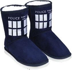Australia Dr Who - TARDIS Boot Slipper Ladies Size 8