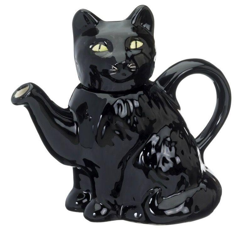 Europe BLACK CAT FULL SIZE TEAPOT
