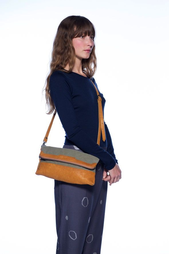 Australia Nancybird Olive Wax Canvas North Bag RRP$195