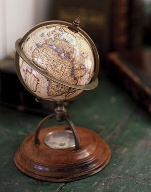 Australia Terrestrial Globe With Compass