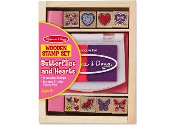 Australia M&D - Butterfly And Hearts Stamp Set