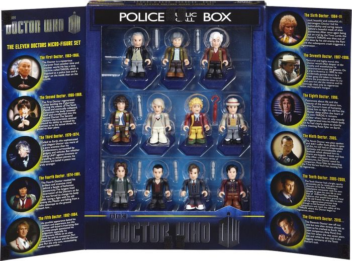 Australia Dr Who - Character Building 11 Doctors 50th Anniv
