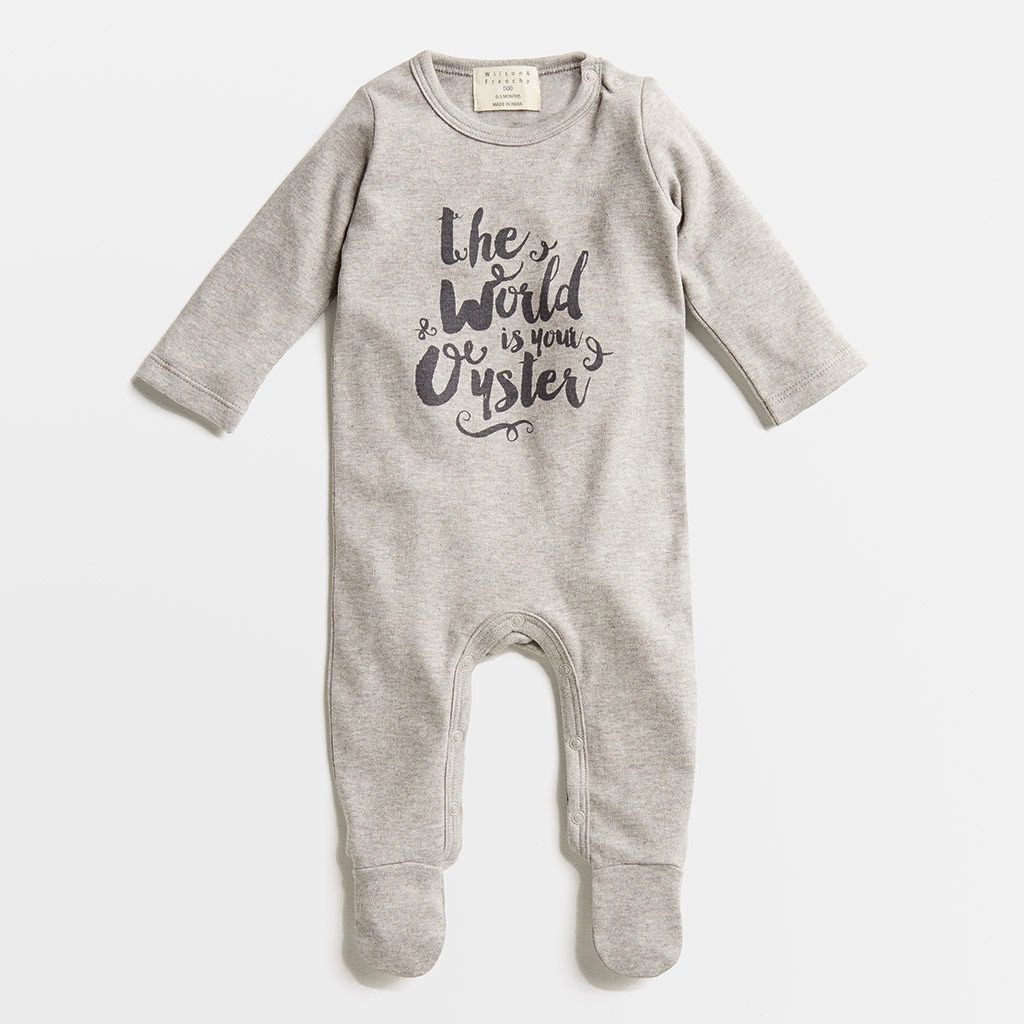 Australia The world is your Oyster Growsuit - 0-3 months