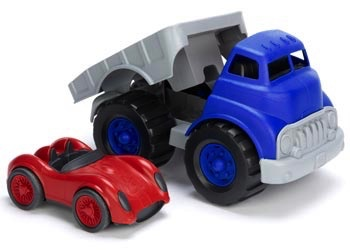 Australia Green Toys - Flatbed with Red Race Car