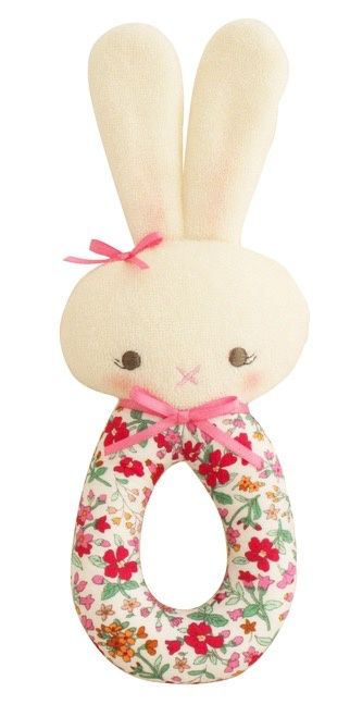 Australia Hannah Bunny Grab Rattle Flower