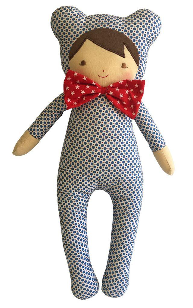 """Australia Baby in Bear Suit 17"""" Blue Dottie"""