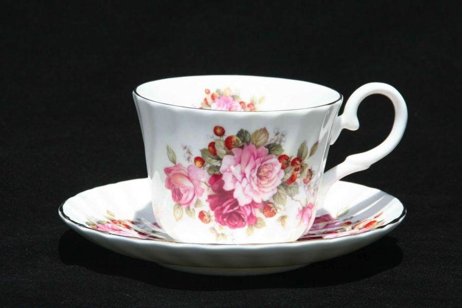 Australia Strawberry Rose Cup & Saucer