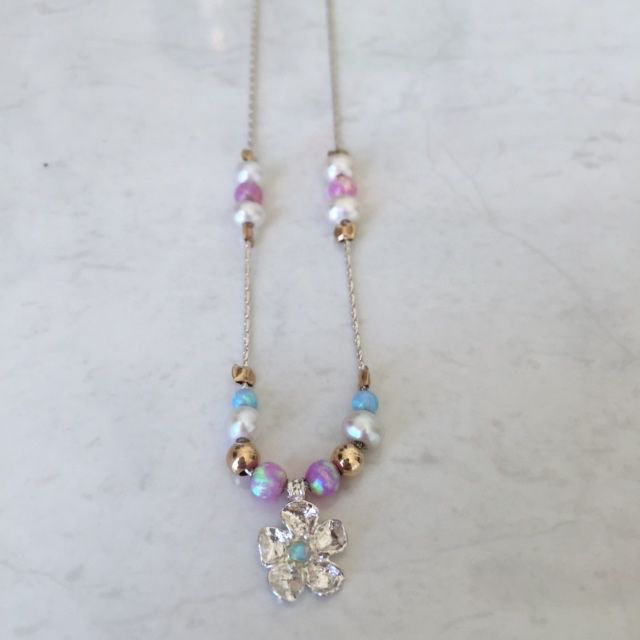 Australia SS. Gold Filled. Opal. Pink Opal. Pearl