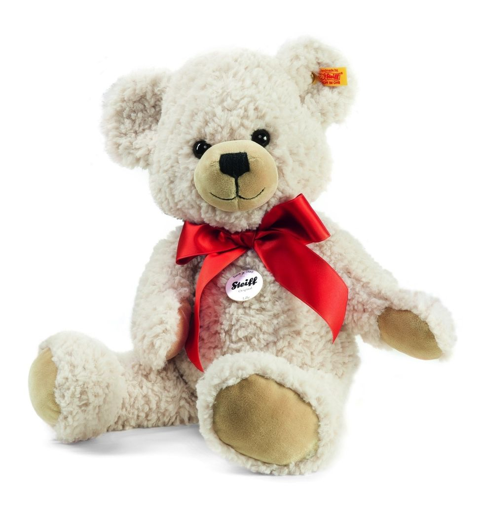 Europe Lilly Dangling Teddy Bear, Cream