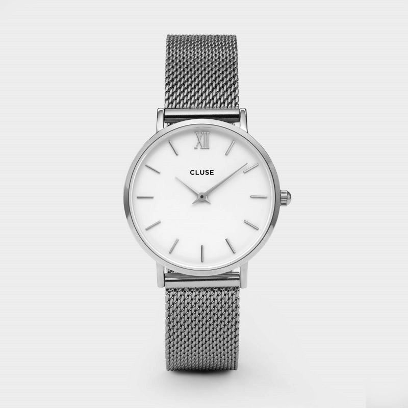 Australia CLUSE Minuit Mesh Silver/White