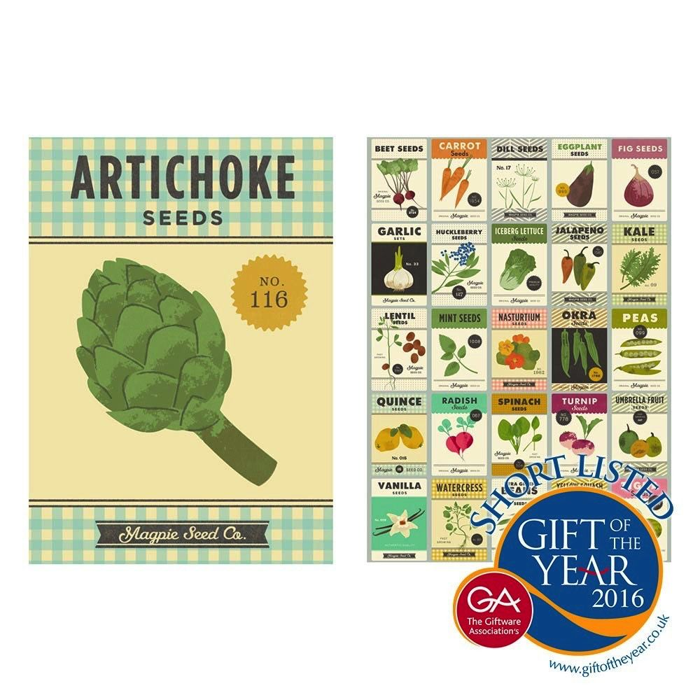 Europe Roots & Shoots Tea Towels Gift Pack of 2