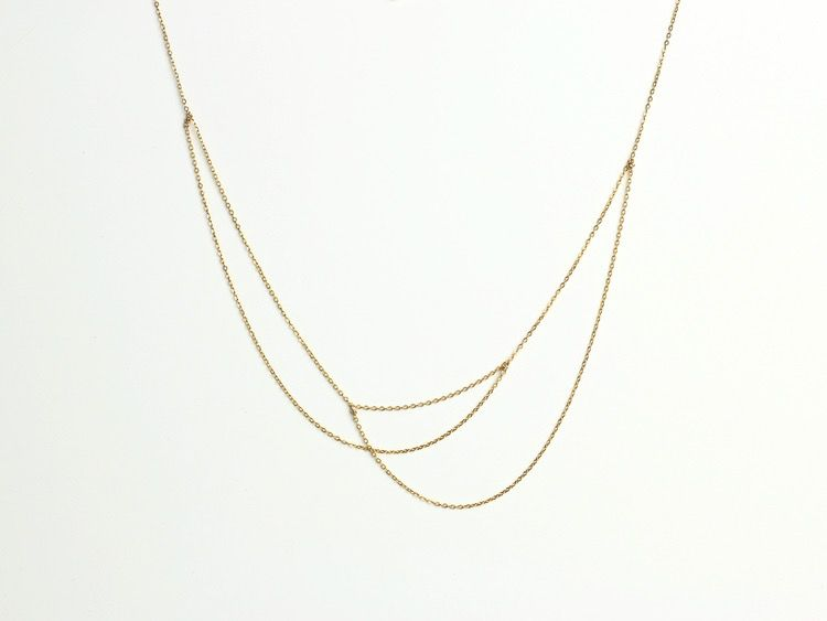 USA Alaba Necklace Gold