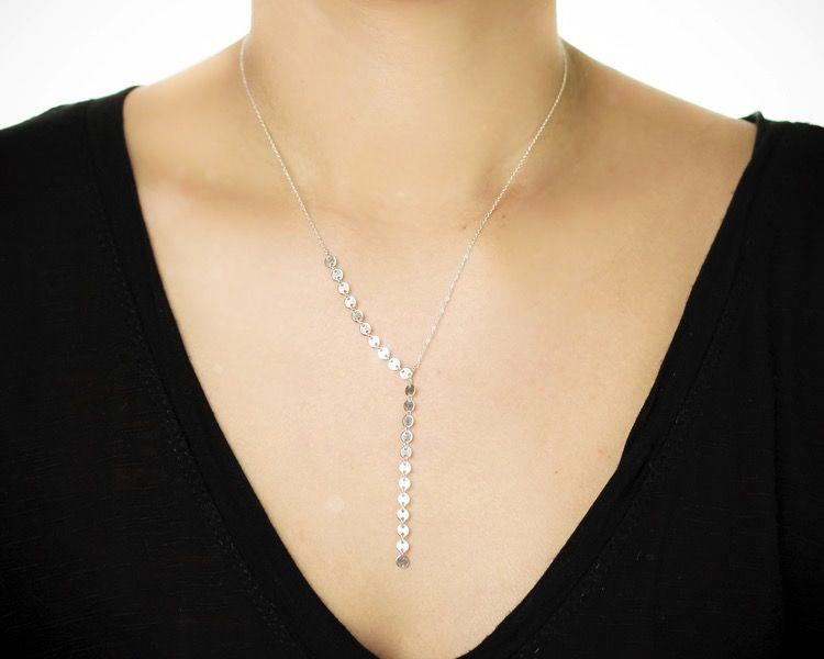 USA Shimmer Angla Necklace Silver