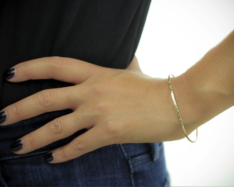 USA Bangle Bracelet Gold