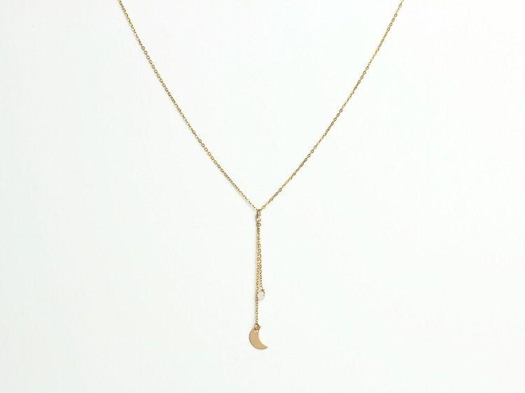 USA Dos Lunas Necklace Gold
