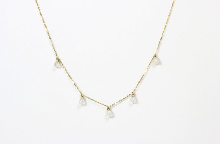 USA Long Pluto Necklace Gold