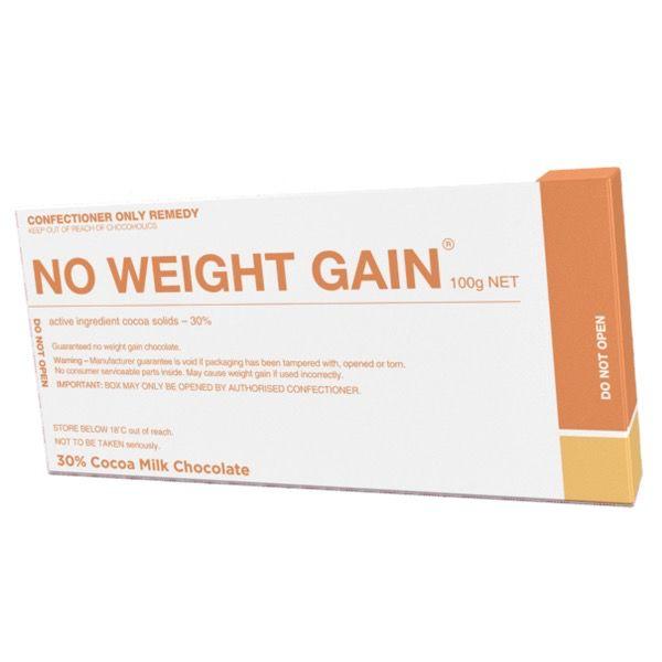 Australia No Weight Gain Milk Chocolate 100g