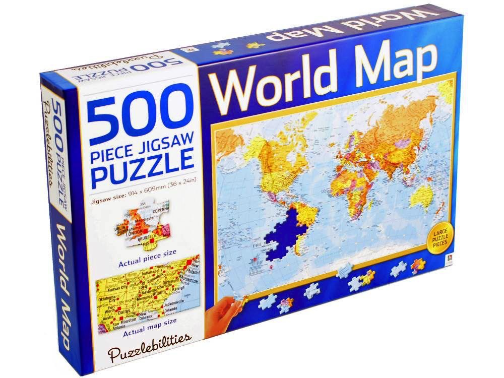 Australia PUZZLEBILITIES WORLD MAP 500 PC