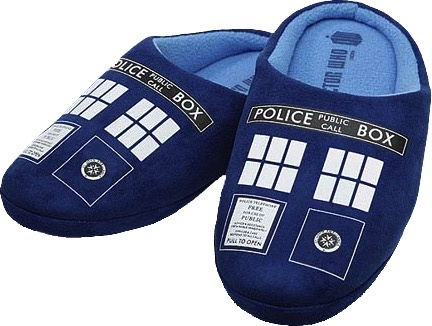Australia DR WHO - TARDIS PRINTED SLIPPERS MENS 14