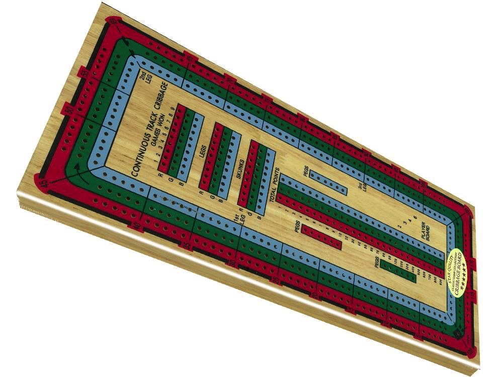 Australia CRIBBAGE LARGE 3 TRACK COLOURED