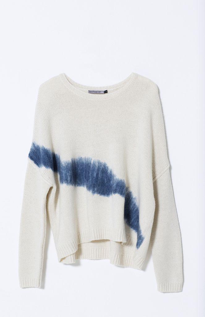 Australia S White/Marine Stripe Felted Sweater