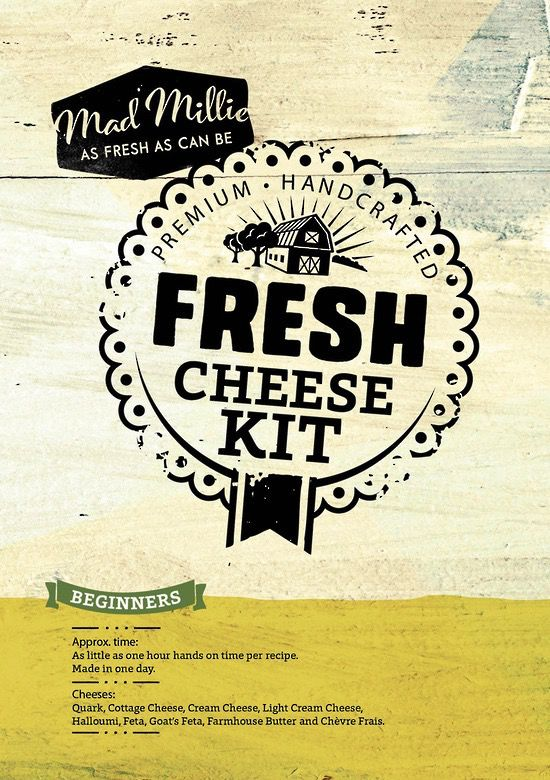 Australia MANUAL - Mad Millie Fresh Cheese Kit (4L Culture)