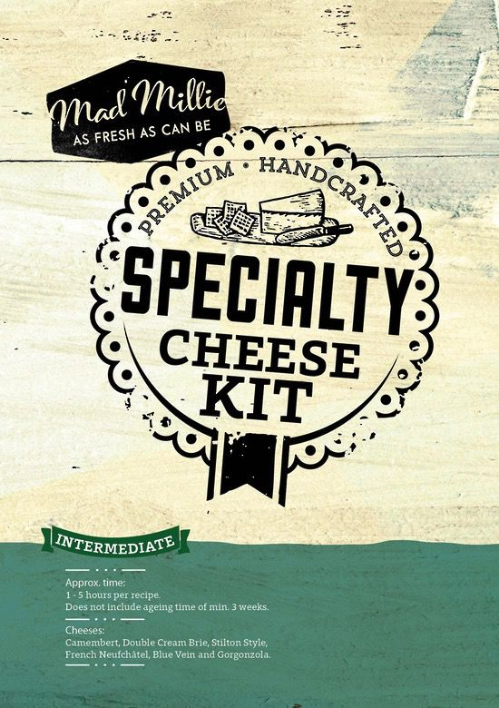 Australia MANUAL - Mad Millie Specialty Cheese Kit (4L Culture)
