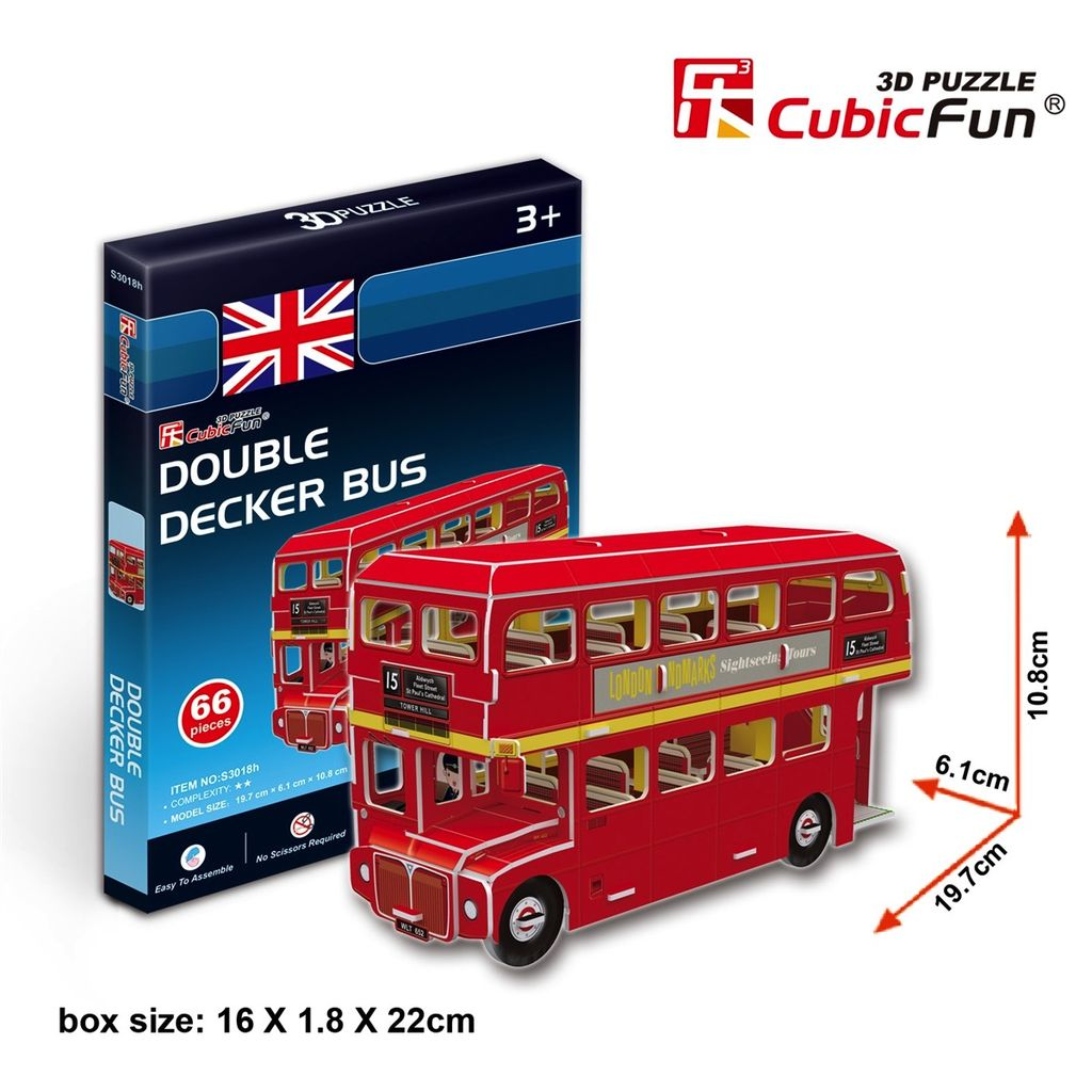 Australia Double Decker Bus, 60pc