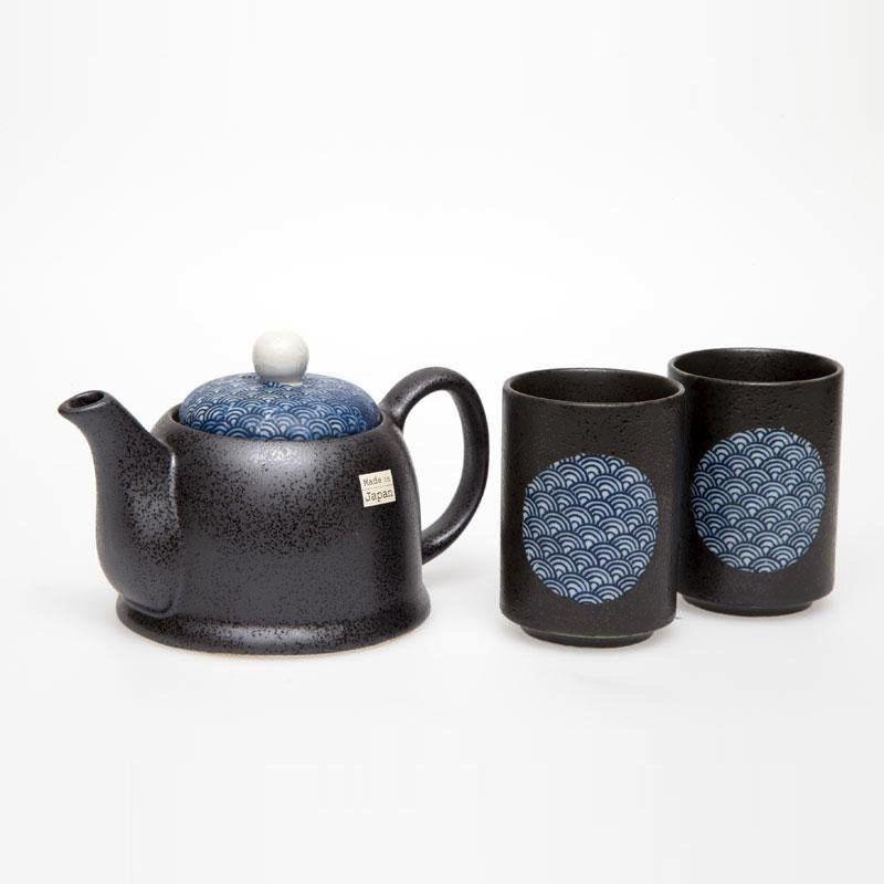 Australia Blue Wave 2 Cup Tea Set