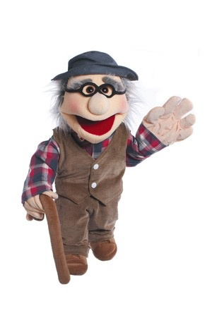 Europe Grandfather Hand puppet Living Puppets 65 cm