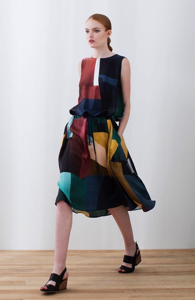 Australia S Multi DPrint Muralla Silk Dress